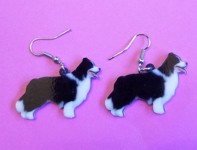 Border Collie Herding Dog Lightweight Earrings Jewelry