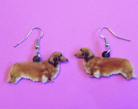 Dachshund Doxie Dog Lightweight Earrings Jewelry