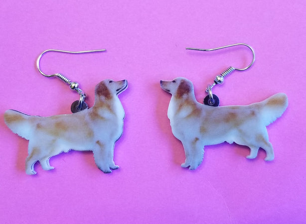 Golden Retriever Dog Lightweight Earrings Jewelry