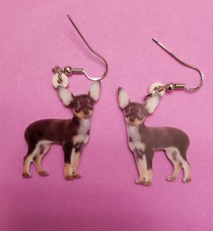 Mexican Chihuahua Dog lightweight Earrings Jewelry