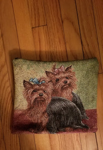 Yorkshire Terrier Yorkie Dog Tapestry Pillow