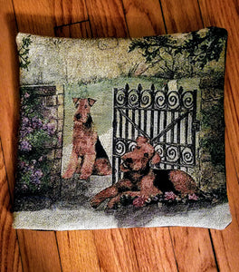 Airedale Terrier Dog Tapestry Pillow Home Decor