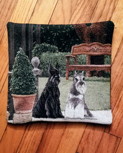 Tapestry Standard Miniature Giant Schnauzer Terrier Dog Pillow