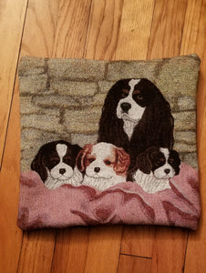 Cavalier King Charles Spaniel Dog Tapestry Throw Pillow