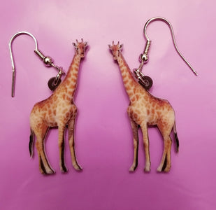 African Giraffe Lightweight Earrings Jewelry