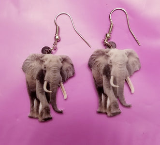 African Elephant Lightweight Earrings Jewelry