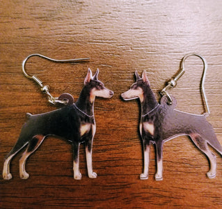 Doberman Pinscher or Miniature Pinscher Dog Lightweight Earrings