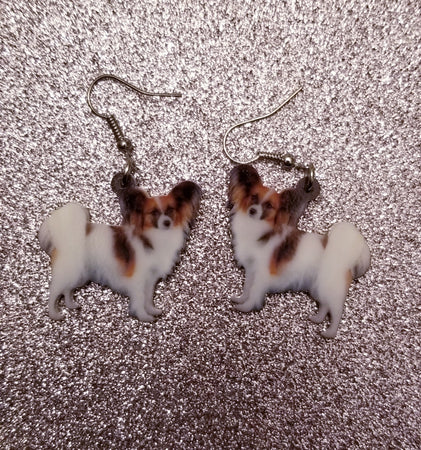Papillon Dog Lightweight Earrings Jewelry