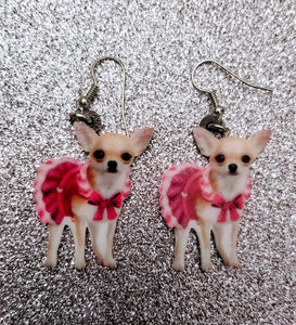 Mrs. Mexican Chihuahua Dog Lightweight Earrings Jewelry
