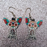 Day of the Dead Mexican Chihuahua Dog Lightweight Earrings Jewelry