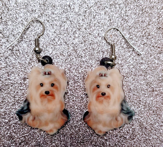 Yorkshire Terrier Yorkie Dog Lightweight Earrings Jewelry