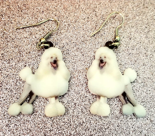 Minature Standard Toy Poodle Dog Lightweight Earrings Jewelry