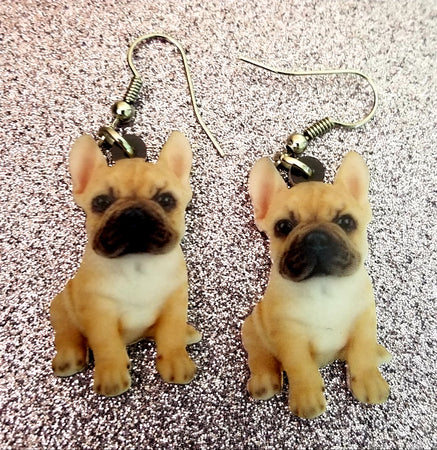 French Bulldog Frenchie Dog Lightweight Earrings Jewelry