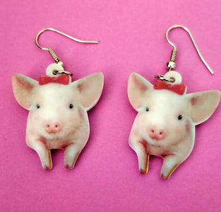 Pig Piggy Piglet Lightweight Earrings Jewelry