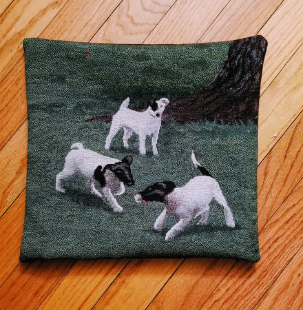 Smooth Fox Terrier Dog Tapestry Throw Pillow Home Decor