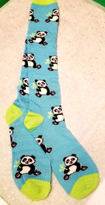 Knee-Hi Giant Panda Bear Novelty Socks With Bamboo
