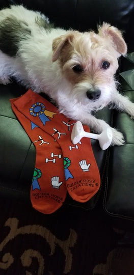 AKC Dog Obedience Socks High in Trial High Combined