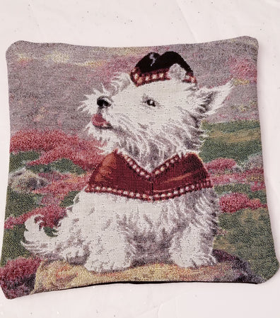 West Highland White Terrier Westie Dog Tapestry Pillow