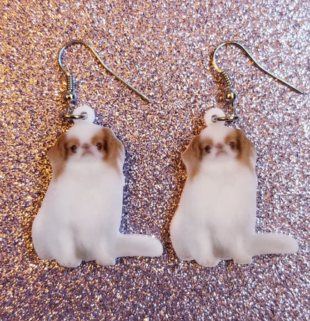 Japanese Chin Dog Lightweight Earrings Jewelry