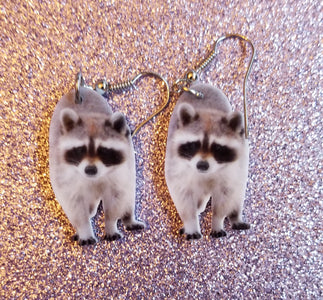 Raccoon Wildlife Lightweight Earrings Jewelry