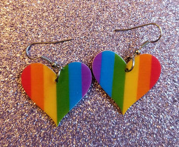 Rainbow Support LGBTQ Love Lightweight Earrings Jewelry