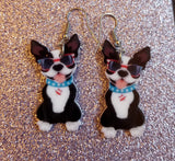 Super Cool Boston Terrier Puppy Dog Lightweight Earrings Jewelry