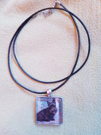 Vintage Look Scottish Terrier Scottie Dog Necklace