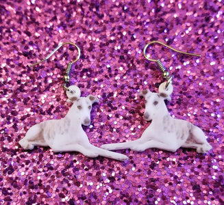 Whippet Dog Lightweight Earrings Jewelry