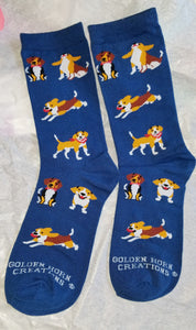 Aroo Beagle Hound Dog Socks