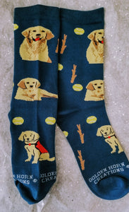 Golden Retriever Dog Breed Novelty Socks with Service Dog