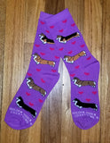 Love & Hearts Pembroke Welsh Corgi Dog Socks