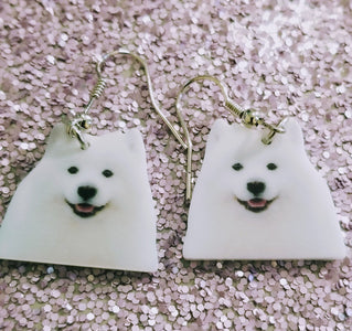 Samoyed American Eskimo Dog Lightweight Earrings