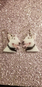Bull Terrier Dog Design Lightweight Earrings Jewelry