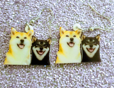 Japanese Shiba Inu Dog Lightweight Earrings Jewelry