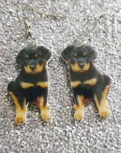 Rottweiler Dog Lightweight Earrings Jewelry
