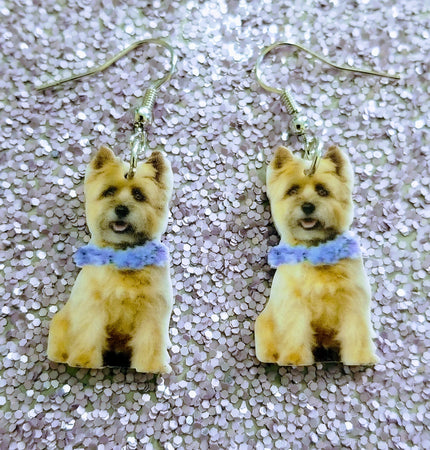 Cairn Terrier Dog Lightweight Earrings Jewelry