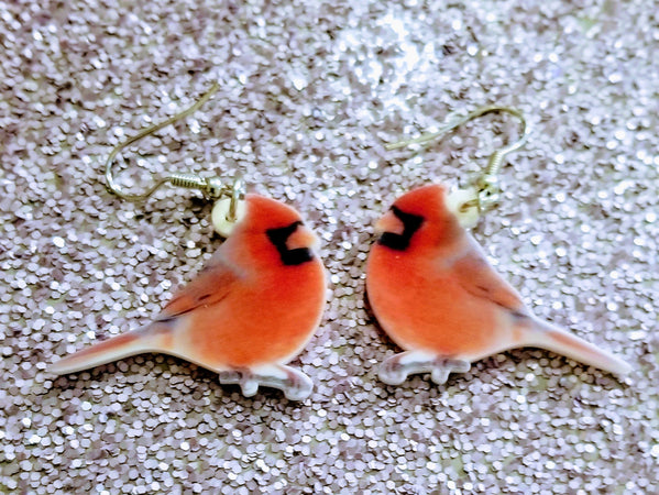 Illinois State Bird The Cardinal Lightweight Earrings Jewelry