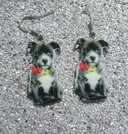 Pit Bull Dog Design 2 Lightweight Earrings Jewelry