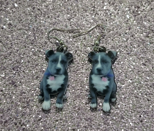 Pit Bull Dog Design 1 Lightweight Earrings Jewelry