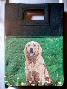 Golden Retriever Dog Handbag Purse Computer Bag