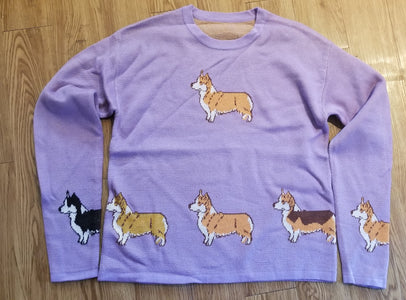 Beautiful Pembroke Welsh Corgi Dog Ladies Sweater