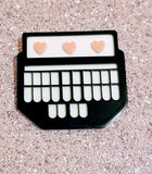 New Steno Court Reporter Acrylic Handmade Pin Brooch Jewelry