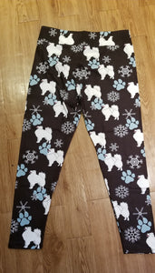 Samoyed, American Eskimo,  Sled Dog Breed Ladies Leggings