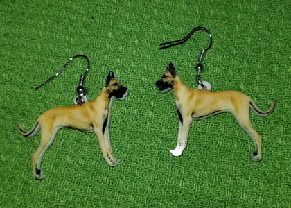 Great Dane Dog Design Lightweight Earrings Jewelry