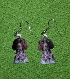 German Shorthaired Pointer Dog Design Lightweight Earrings Jewelry