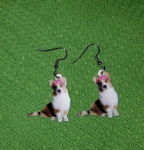 Cardigan Welsh Corgi Dog Design Lightweight Earrings Jewelry