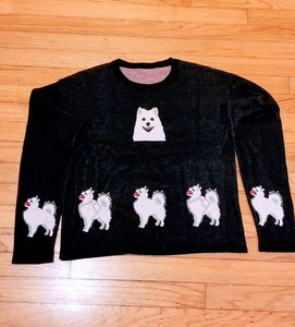 Warm & Cozy Samoyed American Eskimo Finnish Spitz Dog Ladies Sweater