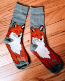 One Sly Red Fox Wildlife Ladies Socks