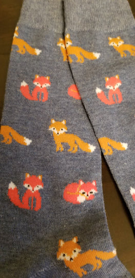 New Baby Red  and Pink Fox Wildlife Ladies Socks