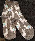 No Llama Drama Here  llamas Alpaca Farm Animal Novelty Socks